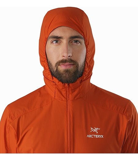 Nodin Jacket Rooibos Hood Front View
