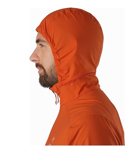 Nodin Jacket Rooibos Hood Side View