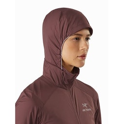 Nodin Jacket Women's Inertia Hood Side View