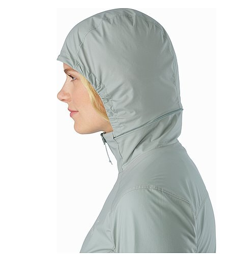 Nodin Jacket Women's Sage Hood Side View