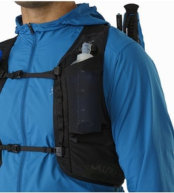 Norvan 14 Hydration Vest Black Front Mesh Pockets 2