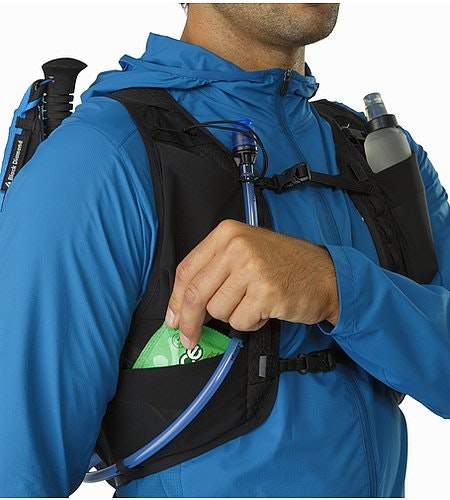 Norvan 14 Hydration Vest Black Front Mesh Pockets