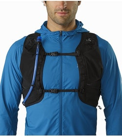 Norvan 14 Hydration Vest Black Front View Detail