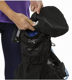 Norvan 7 Hydration Vest Black Weather Resistant Pouch