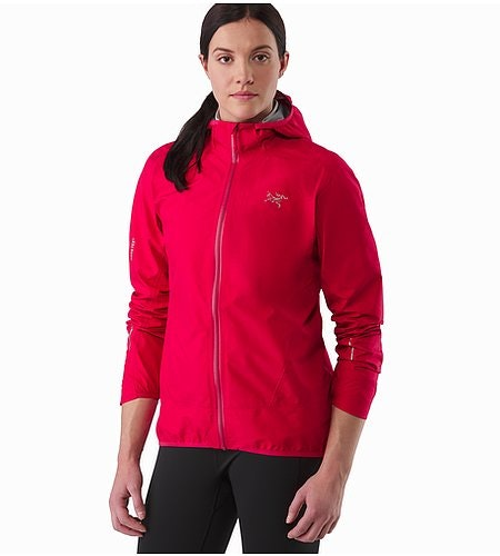 Norvan Jacket Women's Radicchio Pushed Up Sleeves