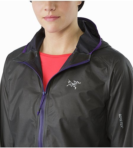 Norvan SL Hoody Women's Black Azalea Open Collar
