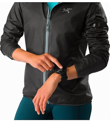 Norvan SL Hoody Women's Black Robotica Pushed Up Sleeves