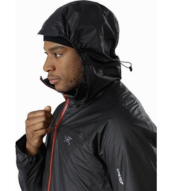 Norvan SL Insulated Hoody Black Infrared Hood Side