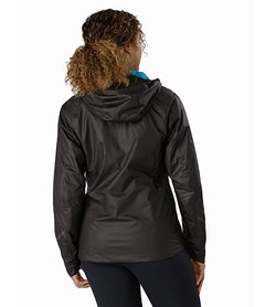 Norvan SL Insulated Hoody Women's Black Dark Firoza Back View