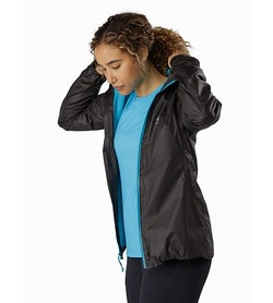 Norvan SL Insulated Hoody Women's Black Dark Firoza Open View