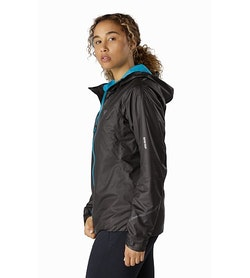Norvan SL Insulated Hoody Women's Black Dark Firoza Side View