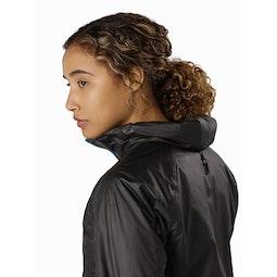 Norvan SL Insulated Hoody Women's Black Dark Firoza Stowed Hood