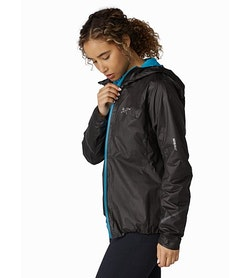 Norvan SL Insulated Hoody Women's Black Dark Firoza