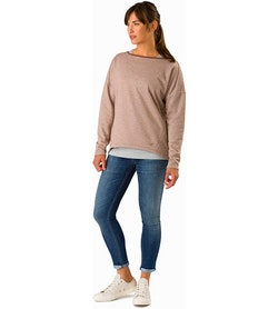 Nyara Boatneck Pullover Women's Kirigami Heather Front View