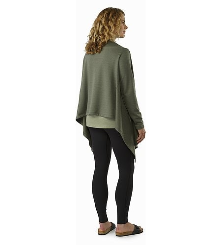 Nyara Wrap Women's Shorepine Heather Back View