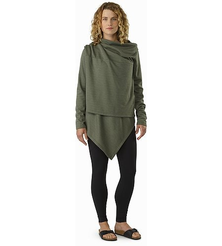 Nyara Wrap Women's Shorepine Heather Front View