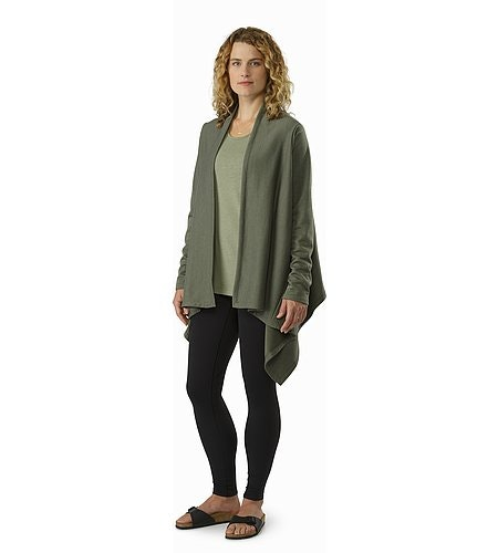 Nyara Wrap Women's Shorepine Heather Open View