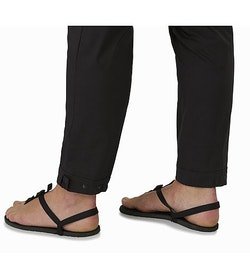 Nydra Pant Women's Black Adjustable Cuffs Open