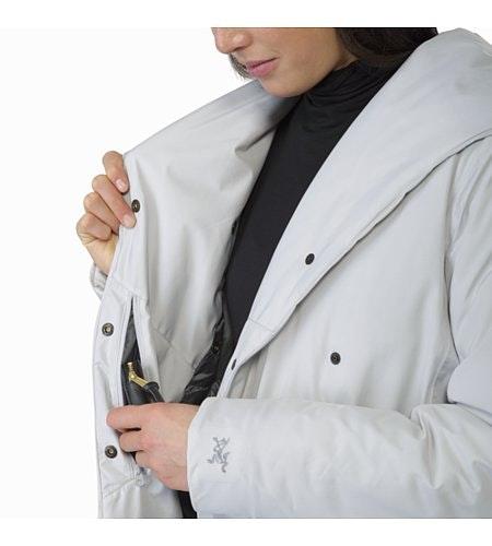Osanna Coat Women's Athena Grey Internal Security Pocket