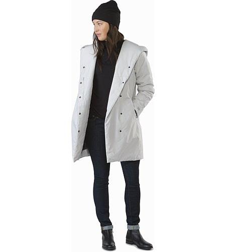 Osanna Coat Women's Athena Grey Open View
