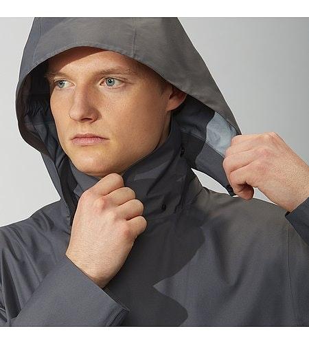 Partition LT Coat Ash Detachable Hood