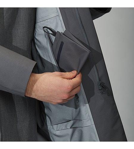 Partition LT Coat Ash Internal Pocket