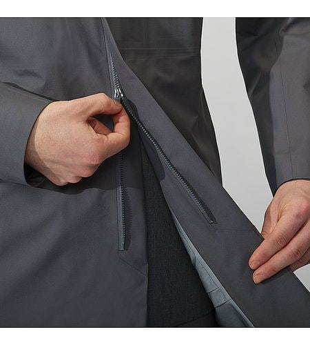 Partition LT Coat Ash Two Way Zipper