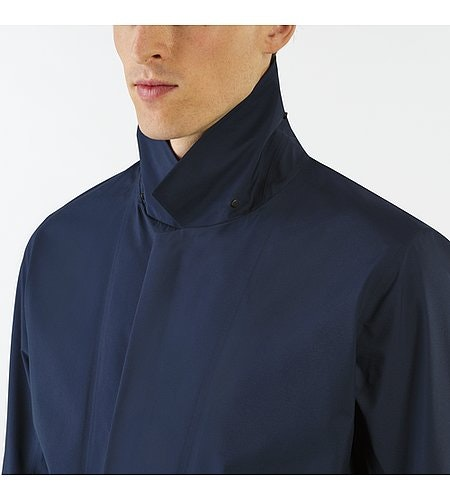 Partition LT Coat Dark Navy Closed Collar