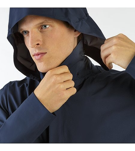 Partition LT Coat Dark Navy Detachable Hood