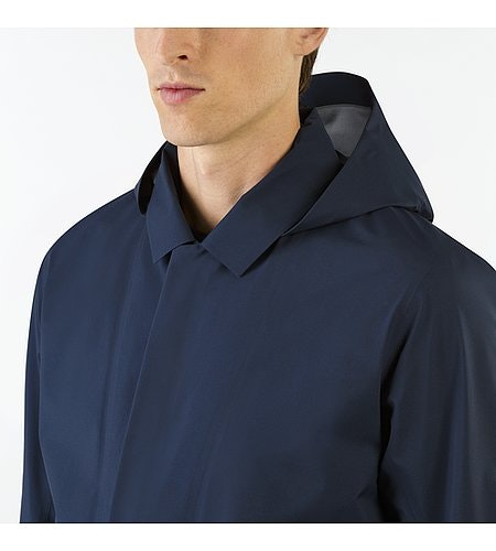 Partition LT Coat Dark Navy Hood Down