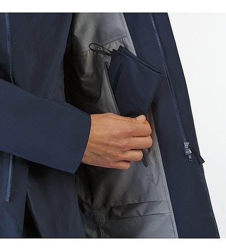 Partition LT Coat Dark Navy Internal Pocket
