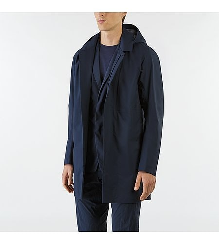 Partition LT Coat Dark Navy Open View