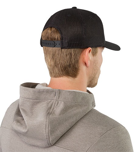 Patch Trucker Hat Black Back View