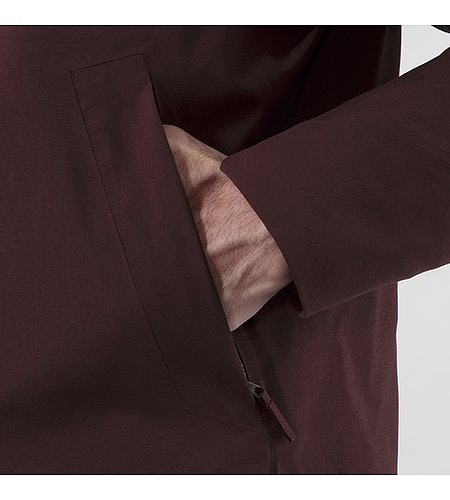 Patrol Down Coat Maroon Hand Pocket Detail