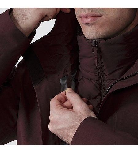 Patrol Down Coat Maroon Hood Adjuster