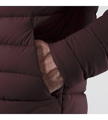 Patrol Down Coat Maroon Inner jacket Hand Pocket Detail