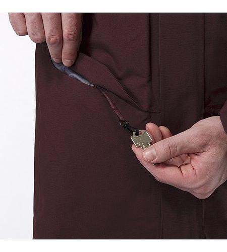 Patrol Down Coat Maroon Pocket Detail