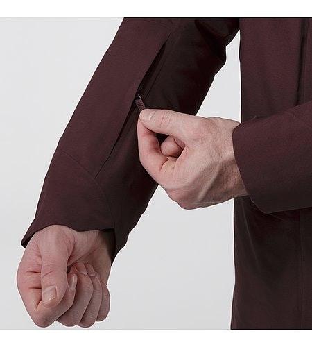 Patrol Down Coat Maroon Sleeve Pocket