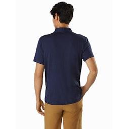 Pelion Polo Shirt Cobalt Moon Back View