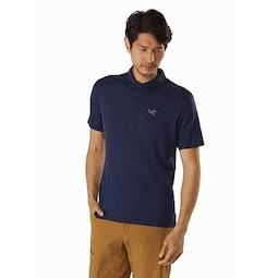 Pelion Polo Shirt Cobalt Moon Front View