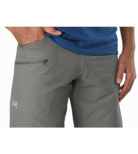 Perimeter Short Castor Grey Hand Pockets