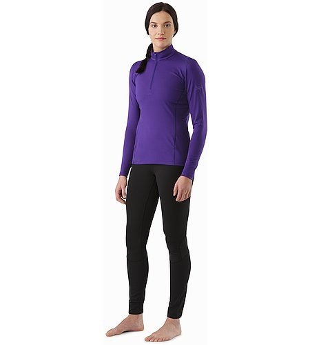 Phase AR Zip Neck LS Women's Azalea Front View