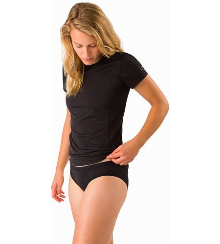 Phase SL Brief Women's Black Front View