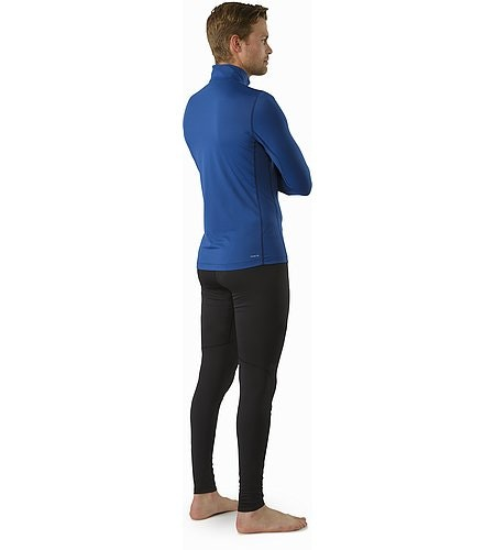 Phase SL Zip Neck LS Triton Back View