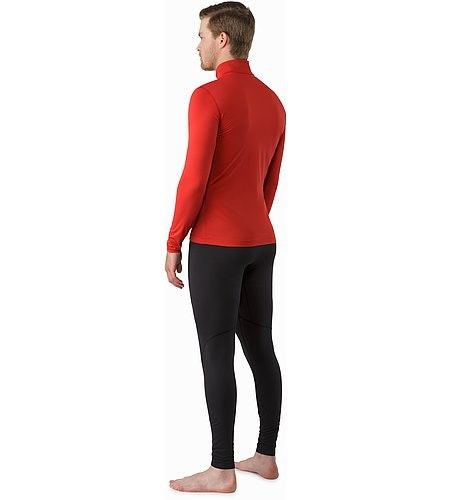 Phase SL Zip Neck LS Vermillion Rückansicht