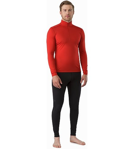 Phase SL Zip Neck LS Vermillion Vorderansicht
