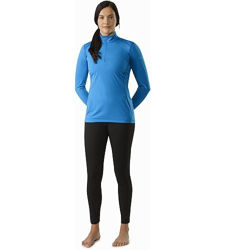 Phase SL Zip Neck LS Women's Macaw Front View