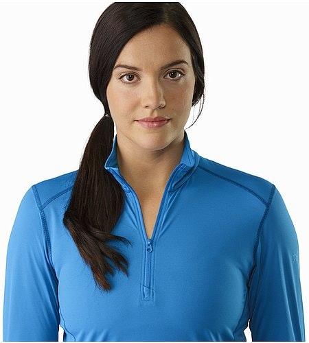 Phase SL Zip Neck LS Women's Macaw Open Collar