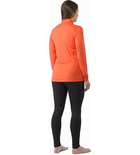 Phase SL Zip Neck LS Women's Nectar Back View
