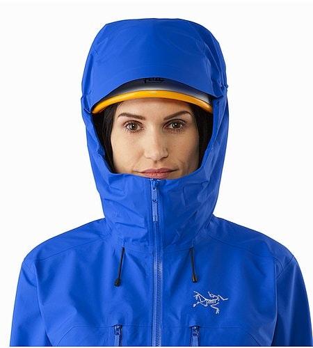 プロクライン コンプ ジャケット ウィメンズ サマセット ブルー ヘルメット対応フード前面